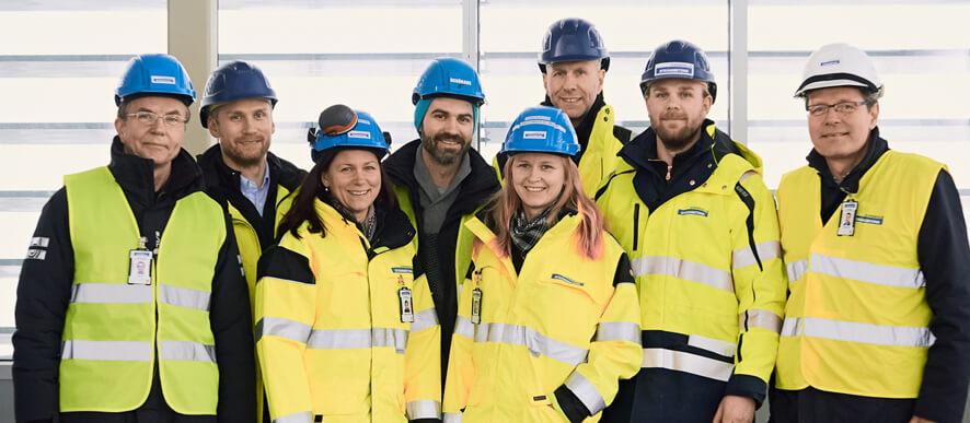 Strängbetong som är engagerade i Stockholm LightHouse.