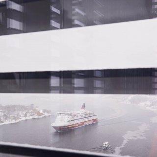 Havet sett från Stockholm LightHouse.