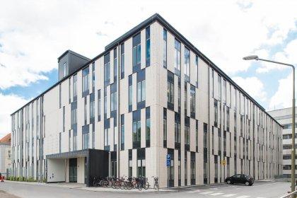 Malmö Sjukhus (SUS) Klinkerfasad Strängbetong