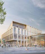 Så här fint blir Falkenbergs Kunskaps- och kulturcentrum. Illustration: Fojab Arkitekter