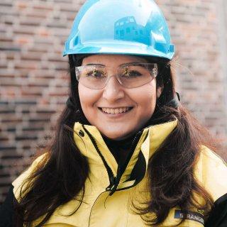 Shabnam Seradji på Strängbetong projektleder Hägerneholmsskolan.