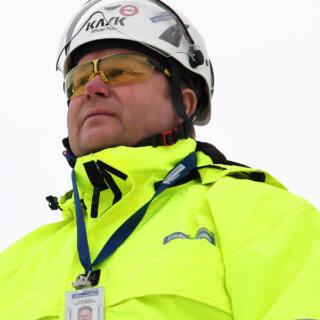 Micke Finn, en av Strängbetongs håldäcksentusiaster.